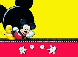 Kit De Mickey En Rojo Y Amarillo Para Imprimir Gratis Oh My