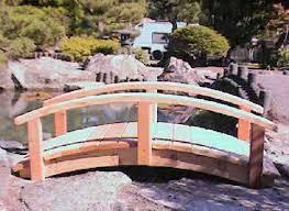cedar wood garden bridge