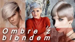 Ombre Na Krotkich Wlosach Blond L Modne Kolory Wlosow Youtube