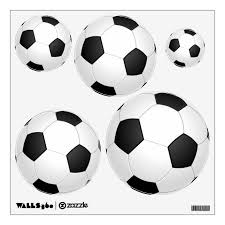 Assorted Soccer Ball Wall Decal Set Zazzle Com
