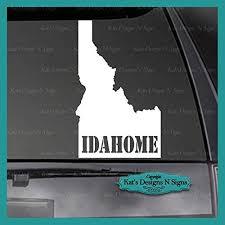 Amazon Com Cliffbennett Idaho Idahome State Vinyl Decal Car Truck Window Sticker Ida 00001 Home Kitchen