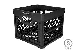 25 Liter Collapsible Milk Crates 3 Pack Clevermade