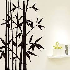 Home Decor Wall Sticker Wall Art Removable Decoration Mural Decal Black Bamboo 60x90cm Decoration Murale Wall Stickerdecorative Wall Stickers Aliexpress