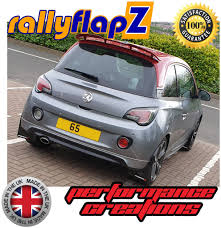 VAUXHALL ADAM S 2015 BLACK MUDFLAPS Logo White & Red