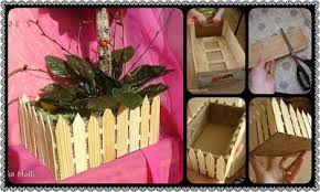 Diy How To Make Fences Flower Pot From Popsicle Stick Community