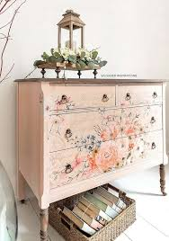 Floral Transfers For Furniture Spring Dresser Makeover Salvaged Inspirations