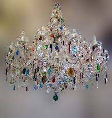 multi colored chandelier modern glass