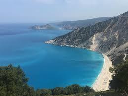 kefalonia myrtos beach bay sea