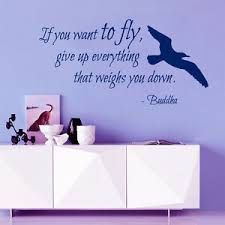 Bird Wall Decal Quote If You Want To Fly Buddha Vinyl Stickers Bedroom Decor Ki3 Ebay