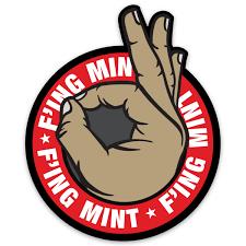 F Ing Mint Sticker Gzila Designs