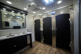 gold luxury restroom trailers luxury