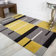 yellow grey contemporary patchwork