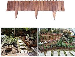 Xhxmm Wooden Panel Picket Border Fence As A Garden Front Yard Fence Weather Resistant Treatment For Edges And Garden Borders Amazon Co Uk Kitchen Home