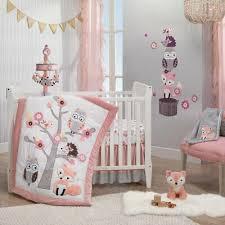 pink woodland owl baby crib nursery