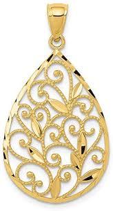 black bow jewelry 14k yellow gold vine
