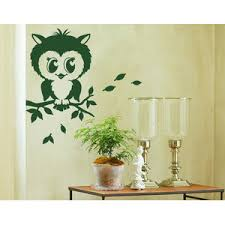 Pretty Owl Wall Decal Contemporary Wall Decals By Style And Apply