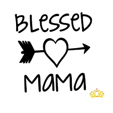 Amazon Com Blessed Mama Vinyl Decal For Yeti Tumbler Car Cup Or Laptop In Black Mom Gift Quote 2 Inches X 2 Inches Black Handmade