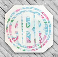 Excited To Share This Item From My Etsy Shop Monogram Decal Sticker Vinyl Initials Decal Preppy Stic In 2020 Monogram Decal Stickers Monogram Decal Preppy Stickers