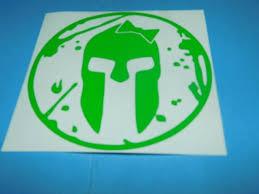 Spartan Girl Helmet Green Vinyl Decal Race Car Tattoo By Nd Mobile Plates Ebay