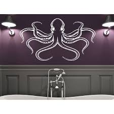 Shop Octopus Tentacles Sprut Kraken Ocean Sea Animal Housewares Wall Vinyl Sticker Decal Size 22x30 Color Black Overstock 14029035