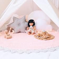 Crochet Rug Round Rug Girls Nursery Decor Kids Room Baby Girl Etsy