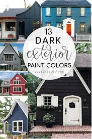 trending dark exterior paint colors