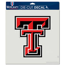 Texas Tech Red Raiders Wincraft 8 X 8 Color Car Decal