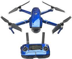 Amazon Com Haoun Decal For Dji Mavic 2 Pro Mavic 2 Zoom Drone Decal Kit Includes Drone Skin Controller Skin And 3 Battery Skin Dark Blue Toys Games