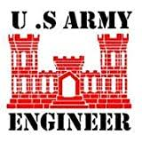 Amazon Com Military Engineer Castle Vinyl Car Decal Red 5 By 5 Inches Automotive
