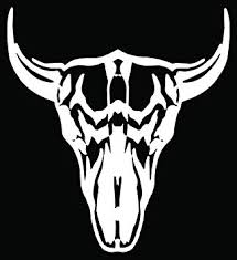 Amazon Com Bull Cow Skull Longhorn Cattle Car Truck Window Bumper Vinyl Graphic Decal Sticker 10 Inch 25 Cm Tall Gloss White Color Automotive