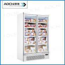 china commercial glass door freezer