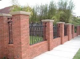 Brick Wall Fence Design Ideas Google Search Brick Fence Fence Design Front Yard Fence