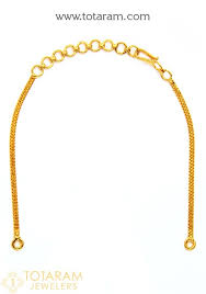 22k gold back chains for necklaces