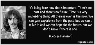 george harrison quote on experience a pondering mind