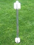Fence Post Mount Vinyl Fence Post No Dig Drive In Ground Fence Material