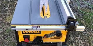 Dewalt Dw745s 10 Table Saw Kit Dewalt S Job Site Saw Takes A Stand