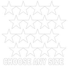 White Stars Vinyl Wall Decals Shapes Patterns Decalvenue Com Decal Venue