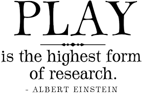 Amazon Com Play Is The Highest Form Of Research Albert Einstein Quote Playroom Decal Childrens Kids Wall Decal Art Letters Motto Kitchen Dining