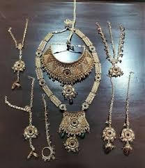 indian dulhan necklace tikka jhumar