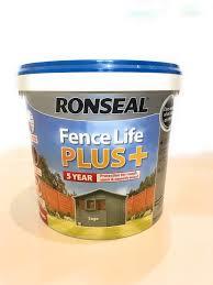 Ronseal Rslflppsa5l 5 Litre Fence Life P Buy Online In Belize At Desertcart