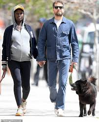 Joshua Jackson and Jodie Turner-Smith hold hands during a casual ...