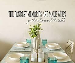 Amazon Com Kitchen Decals Gathered Round The Table 28 W X 6 H Kitchen Wall Decal Dinning Room Decal Kitchen Quotes Wall Quote Decals Kitchen Decal Home Kitchen