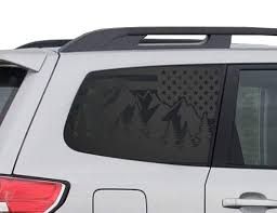 Amazon Com Mountain Scene Flag Decals For Subaru Forester In Matte Black For Side Windows Fits 2009 2013 Qb22 A Handmade