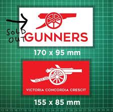 8 Gunners Vinyl Car Window Sticker Decal Fc Afc Gooner Arsenal