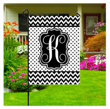 initial garden flags personalized