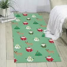 Amazon Com Santa Snowman Deer Carpet 70 X 24 Runner Rug Kids Rugs Area Rug Shag Rug Home Kitchen