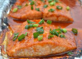 Korean Glazed Salmon In Foil - Souffle ...