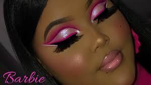 barbie pink cut crease makeup tutorial