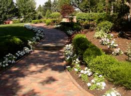 walkway landscaping rolls out the