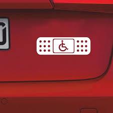 Fun Band Aid Handicap Wheelchair Jdm Decal Car Sticker Wish